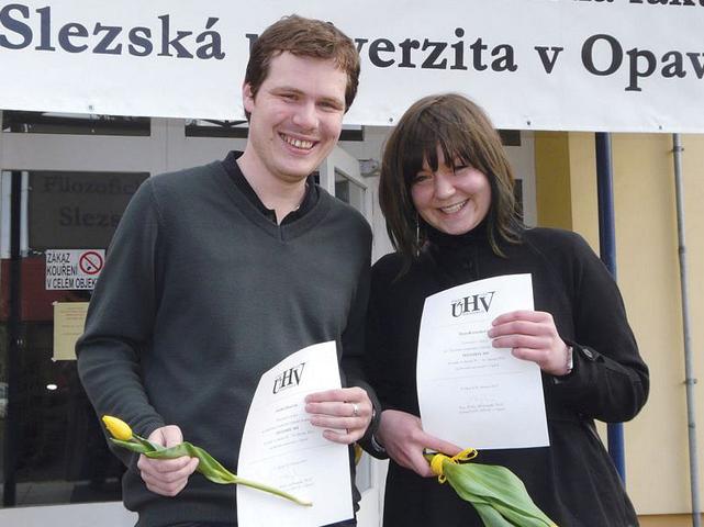 Ondřej Haničák a Hana Komárková po úspěchu v roce 2012 (foto: Ivan Augustin)