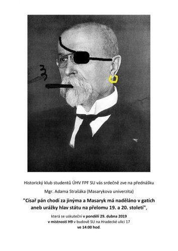 Přednáška Mgr. Adama Strašáka