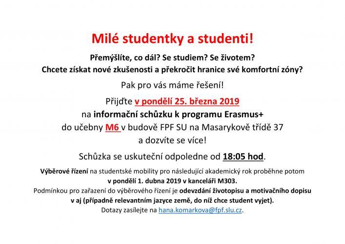 Milé studentky a studenti!
